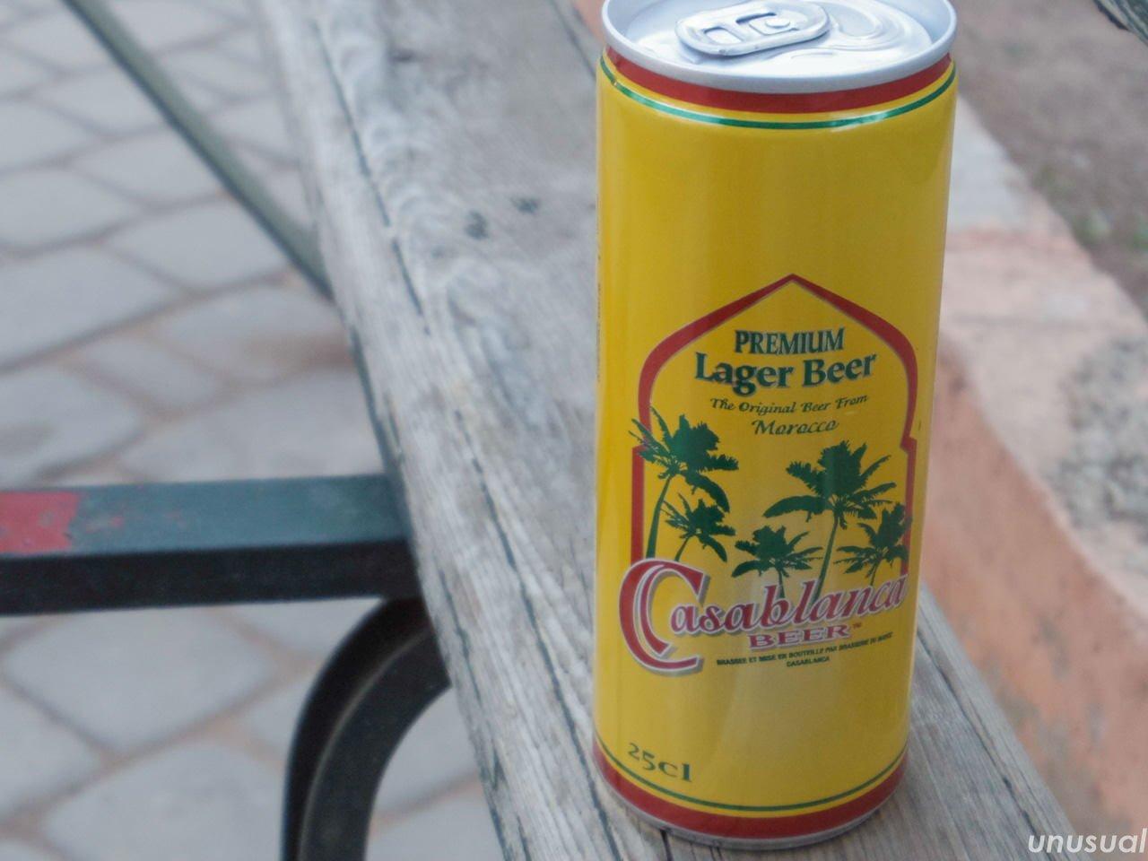 モロッコの缶ビール「カサブランカ」