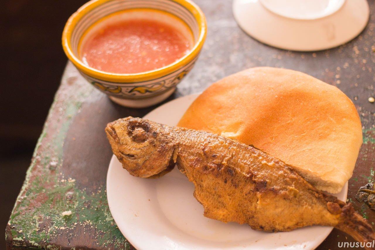 モロッコ料理 魚のフライ