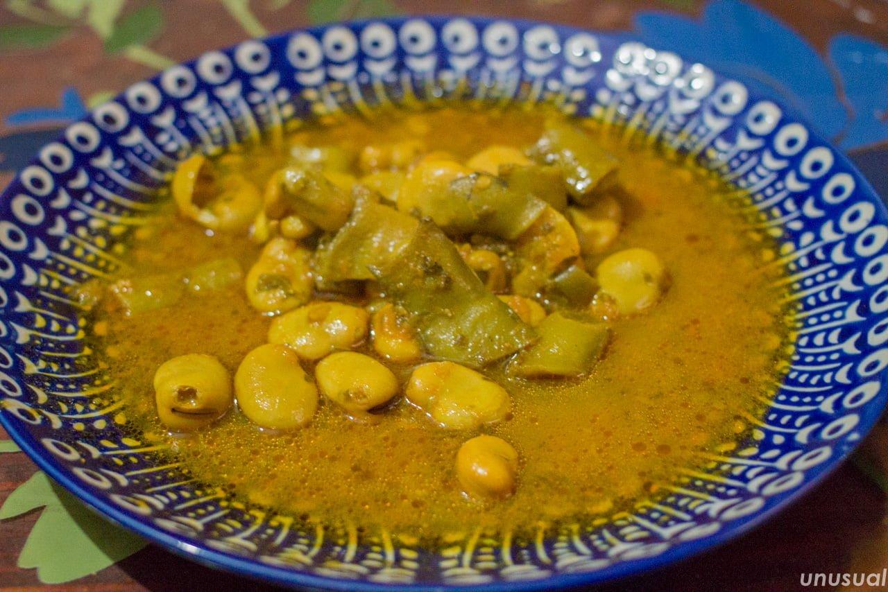 モロッコ料理 そら豆の煮込み