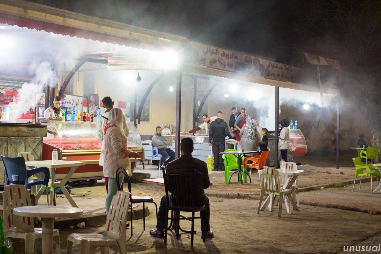 モロッコのケバブ屋台