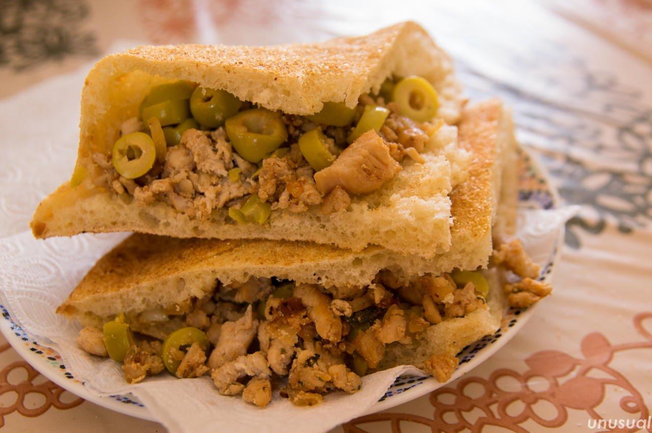 モロッコのサンドイッチ